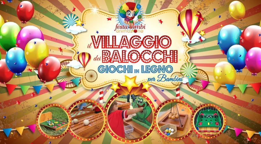 Villaggio giochi in legno per bambini per feste paesane firenze, siena arezzo